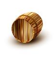brown old oak wooden barrel for beverage vector image