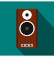Brown speaker icon flat style vector image vector image