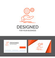 business logo template for solution hand idea vector image