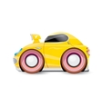 cartoon orange car isolated on white vector image