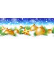 Christmas seamless border vector image vector image