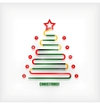 Christmas tree modern minimal line art background vector image