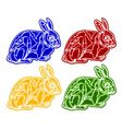 Christmas trimmings rabbit faience vintage vector image vector image