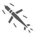 cruise missile glyph icon army and force vector image vector image