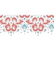 Cute foxes horizontal seamless pattern background vector image vector image