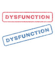 dysfunction textile stamps vector image vector image