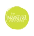 eco labels with sketch drawing design vector image