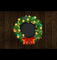 festive christmas wreath poster vector image