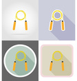 fitness flat icons 03 vector image