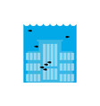 flooding building many of water architecture vector image vector image