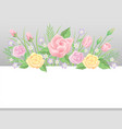floral frame template decoration vector image vector image