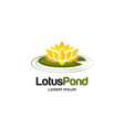 flower lotus logo sign symbol icon vector image