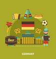 germany sightseeing travel composition vector image vector image