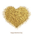 golden hearts with sparkles for valentines day vector image