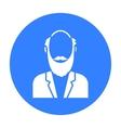 Gray beard icon black Single avatarpeaople icon vector image