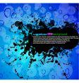 grunge liquid vector image