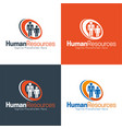 human resources icon and logo vector image