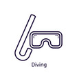 icon of diving mask on a white background vector image