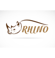 image of rhino head and text vector image vector image