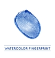 isolated watercolor fingerprin vector image vector image