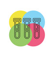 lab icon - laboratory flask - chemistry vector image vector image