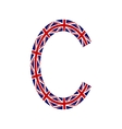 Letter C made from United Kingdom flags vector image vector image