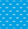 meat shop pattern seamless blue vector image