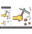 mining industry line icon vector image vector image