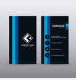 modern creative vertical clean business card vector image vector image