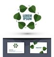 Nature Leaves in the circle Logo icon emblem vector image vector image