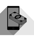 payment refill your mobile smart phone vector image vector image