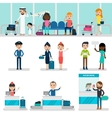 People In Airport Set vector image vector image