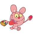 Pink Bunny Rabbit vector image vector image