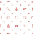 pins icons pattern seamless white background vector image vector image