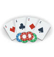 poker chips and playing cards vector image