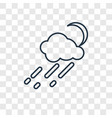 rainy concept linear icon isolated on transparent vector image