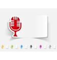 realistic design element microphone vector image vector image
