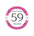 realistic fifty nine years anniversary celebration vector image vector image