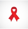 Red ribbon HIV AIDS isolated on grey vector image vector image