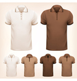 retro set colorful men t-shirts design template vector image
