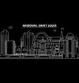 saint louis silhouette skyline usa - saint louis vector image vector image