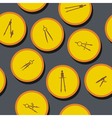 seamless background with different compasses vector image vector image