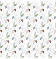Seamless leaf pattern on a white background vector image vector image