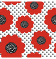 seamless summer pattern with red poppy flowers vector image vector image