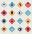set of simple furniture icons vector image vector image