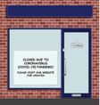 shop closed due to covid 19 pandemic vector image vector image