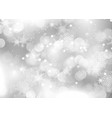 silver christmas snowflake background vector image vector image