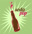 Soda Pop vector image vector image