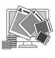 storytelling or writing copywriting business vector image