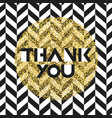 thank you invitation card design template chevron vector image vector image